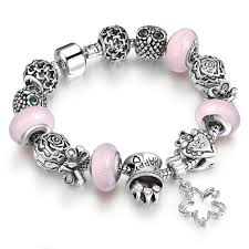 silver plated charm bracelet images Charm chamilia bracelet silver plated crystal charm bracelet for jpg