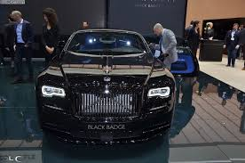 rolls royce wraith 2016 rolls royce debuts black badge series wraith and ghost