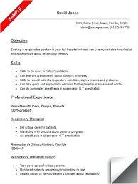respiratory therapist resume exles entry level respiratory therapist resume