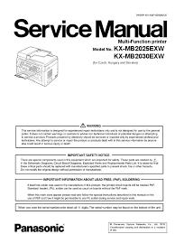 panasonic kx mb2025 2030 service manual fax image scanner