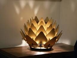 beautiful illuminated sculpture table lamp the cynara is an