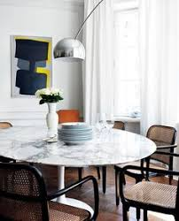 Open Space Perfection Saarinen Table Pendant Lighting And - Apartment kitchen table
