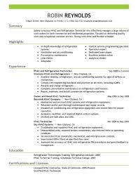 hvac technician resume exles best hvac and refrigeration resume exle livecareer