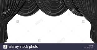 And Black Fabric For Curtains Black Fabric Theatre Curtains On A Plain White Background 3d