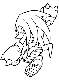 knuckles in action coloring pages download u0026 print online