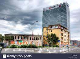 old and modern buildings bratislava slovakia stock photo