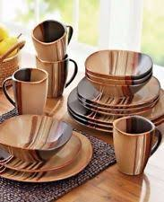 dinnerware serving dishes in material stoneware color brown ebay