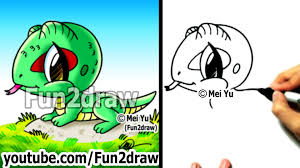 drawing tutorials how to draw a lizard draw animals easy