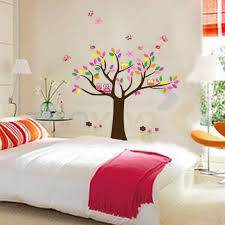 beautiful colorfull tree for home decor wall decal zooyoo5084