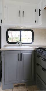 the progress our kitchen cabinets mountain modern life planning update the kitchen your camper motorhome come check out progress