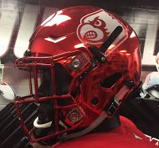 helmet design game louisville will debut red chrome helmets for florida state game