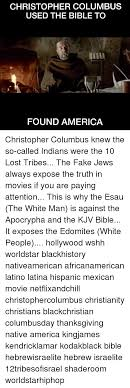 christopher columbus used the bible to found america christopher