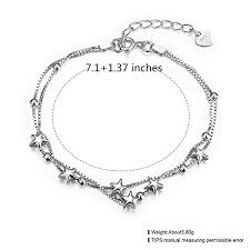 solid sterling silver charm bracelet images Sterling silver charm bracelet adjustable bff jewellery gift for jpg