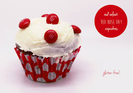 gluten free red velvet red nose day cupcakes brioche for belsy