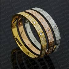 luxury bracelet box images Diamond love bracelet with box 18k gold steel fashion luxury brand jpg