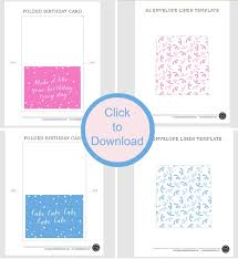 printable birthday cards with envelope liner today u0027s creative life