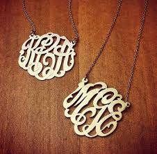 initial monogram necklace monogram gallery sles of monogram jewelry made for our