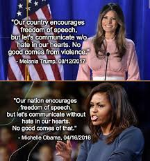 Meme Michelle Obama - did melania trump criticism of charlottesville violence actually