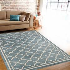 Modern Blue Rug Trellis Contemporary Modern Design Blue Area Rug 7 U002710 X 10 U00272