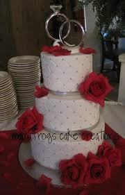 Red And Silver Wedding My Photo Album White Round Wedding Cakes Wedding Cake Red And