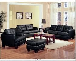 traditional living room with black sofa interior design