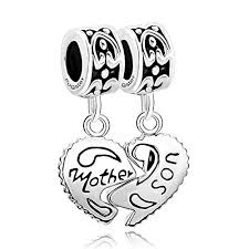sterling silver beads pandora bracelet images Charmsstory sterling silver heart mom mother son jpg