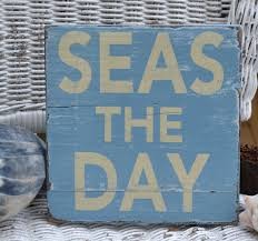 beach signs home decor seas the day beach coastal nautical decor distressed hanging