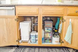 the kitchen sink cabinet organization the sink organization before and after unoriginal