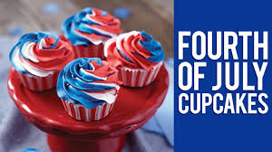 how to make red white and blue swirl 4th of july cupcakes youtube