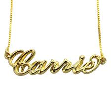 carrie necklace gold wholesale 3d carrie jewelry personalized name necklace gold color