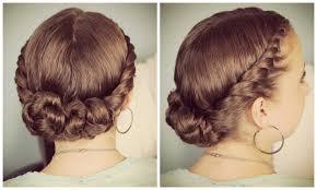 updos cute girls hairstyles youtube double twist bun updo youtube