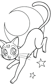moon drawing barbie coloring pages luna and artemis fowl luna and