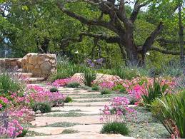 Drought Tolerant Landscaping Ideas A Charming Mediterranean Flagstone Pathway