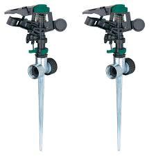 Home Depot Sprinkler Design Tool by Melnor Pulsator Sprinkler With Zinc 2 Way Spikes 2 Pack 308 593