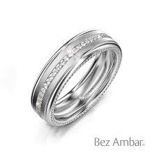 wedding ring white gold men s white gold wedding band with blaze devotion