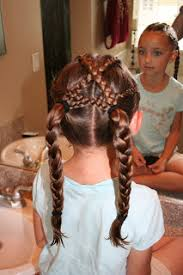 hairstyles using rubber bands fun hairstyle criss cross french braids cute girls hairstyles
