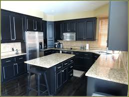 kitchen cabinets black chalk paint white countertops