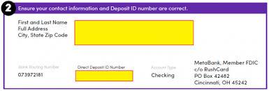 direct deposit card free rushcard direct deposit authorization form pdf