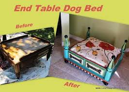 end table dog bed diy upside down table as a small dog bed the speckled dog a bed for