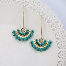 turquoise bridal earrings pearl wedding earrings bridal earrings pearl bridal statement