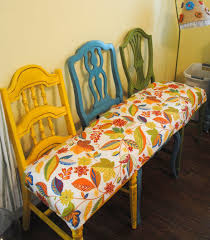 Small Seat Bench Mismatched Chair Bench Bench Mismatched Chairs And Bench Decor