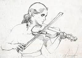 violin drawings fine art america