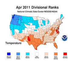 us climate map weather climate extremes punctuate warm april in u s