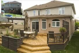 exterior backyard deck ideas pictures trendy design canada loversiq