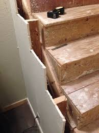 How To Enclose Basement Stairs Stairs Will Removing Subtreads And Risers That Are Attached With
