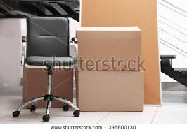 Chair Boxes Moving Moving Office Furniture Stock Images Royalty Free Images