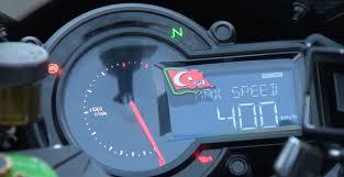 ferrari speedometer top speed kawasaki h2r top speed record 0 400km h 26 second motos