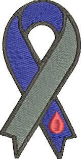 diabetes awareness ribbon machine embroidery design