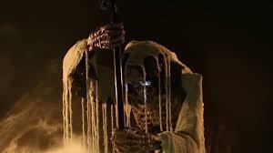 life size animated cauldron creeper skeleton stirring halloween