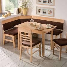 dining room solid and veneer wood corner breakfast nook set for